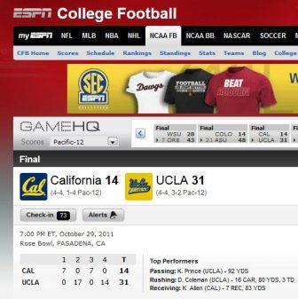 California Golden Bears vs. UCLA Bruins small