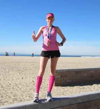 H Beach Marathon thumbs up
