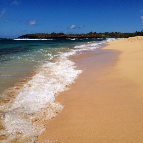 Hawaii secluded beach