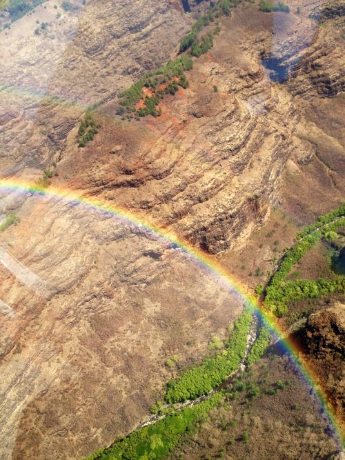 Hawaii napali heli rainbows