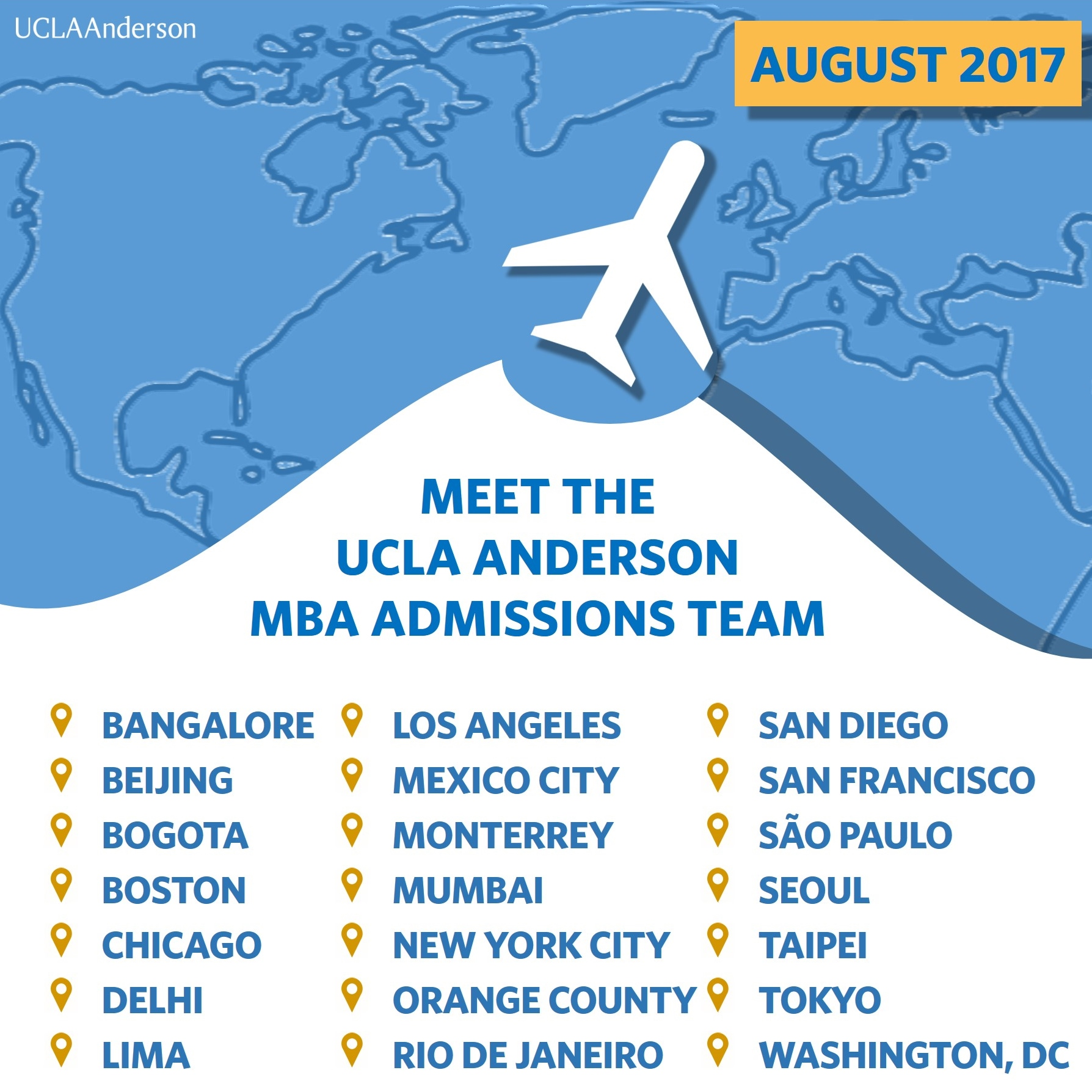 Meet UCLA Anderson Around The World: August 2017 Events