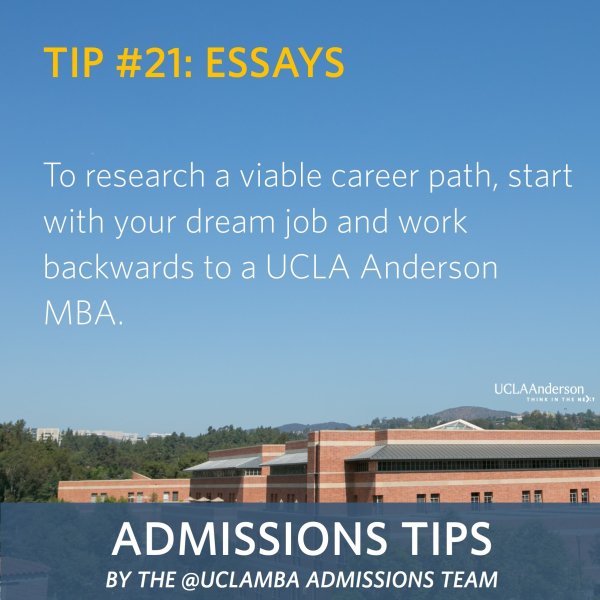 ucla anderson admissions essays The ucla anderson school of management has posted the required essay questions for the 2017-18 admissions cycle first-time applicants required essay.
